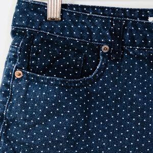 Forever 21 Women's Blue Polka Dot Short Size 28